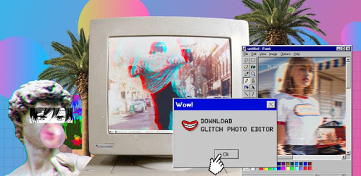 Glitch Photo Editor -VHS, glitch effect, vaporwave apk