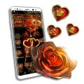 Golden Heart Rose Launcher Theme Icon