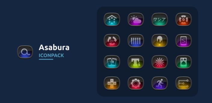 Asabura icon pack apk