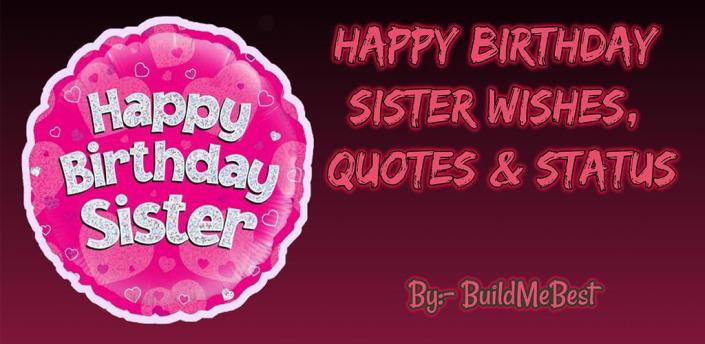 Birthday Wishes for Sister, Quotes, Greeting Cards apk