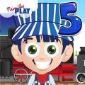 5th Grade Kids Train Games Icon