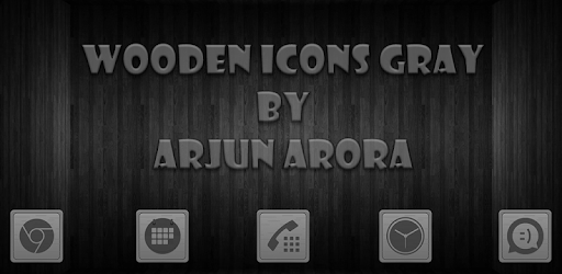 Wooden Icons Gray apk
