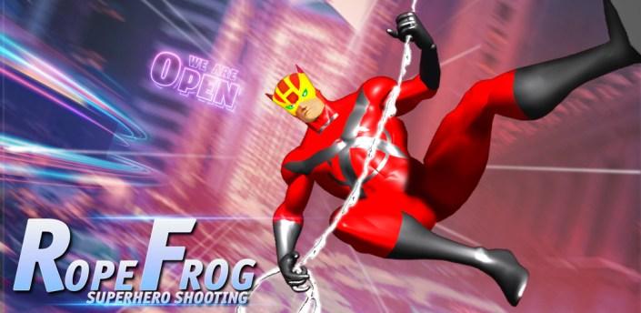 Rope Frog shooting Superhero- 2021 Hero war games apk