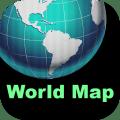 World Map Plus Icon