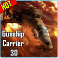 Gunship Carrier Helicopter 3D Icon