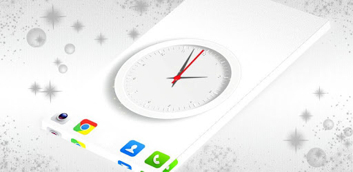 Simple White Clock 2021 apk