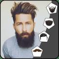 Beard Man Photo Editor: Hairstyle Mustache Salon Icon
