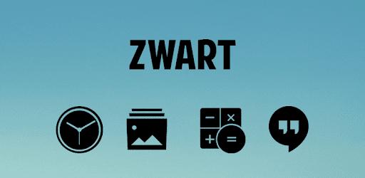 Zwart - Black Icon Pack apk
