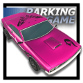 City Pink Car Parking Icon
