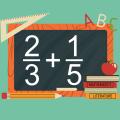Adding Fractions Math Trainer Icon