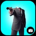 Gun Man Photo Montage Icon