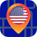 US South Offline Map Icon