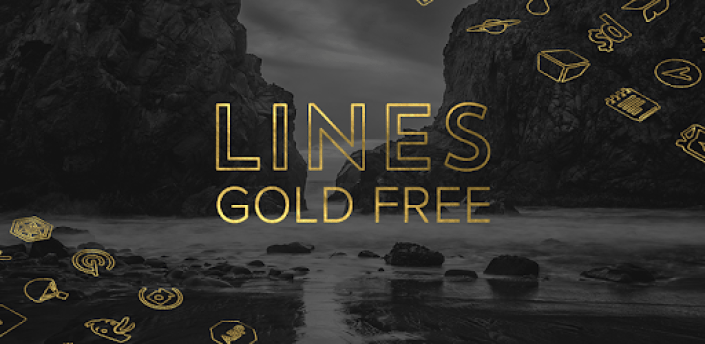 Lines Gold - Icon Pack (Free Version) apk