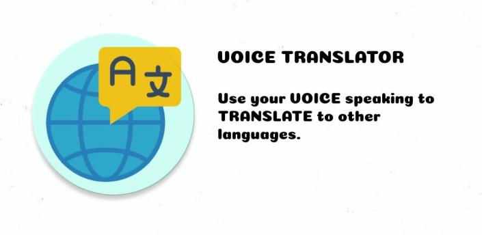 Voice Translator! use your VOICE to TRANSLATE to Spanish, French, Italian, German apk