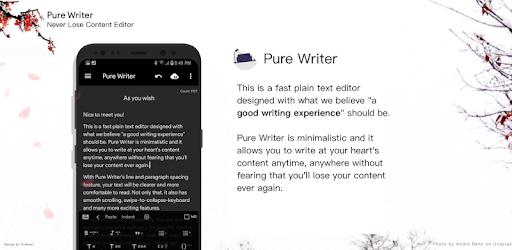 Pure Writer - Never Lose Content Editor & Markdown apk