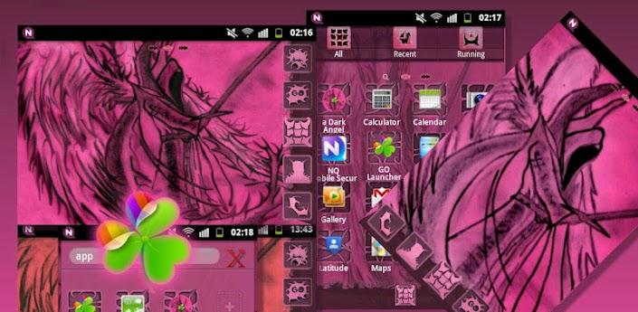 GO Launcher EX Theme Pink Dark apk