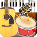 Band Live Rock 🎵 drum, bass, guitar, piano, mic Icon