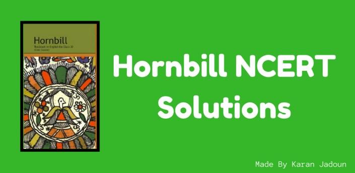📗Class 11 English Hornbill NCERT Solutions📗 apk