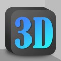 Cubic Dark Mode - 3D Icon pack Icon