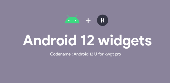 Android 12 U for kwgt apk