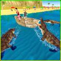Wild Crocodile Beach Attack 3D Icon
