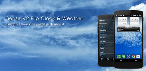 Sense V2 Flip Clock & Weather apk