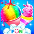 Snow Cone Dessert- Unicorn Snow Cone Party Icon