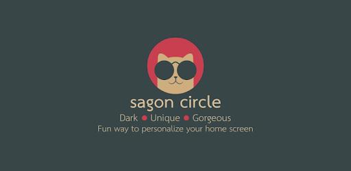 Sagon Circle Icon Pack: Dark UI apk