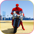 Superhero Tricky bike race (kids games) Icon