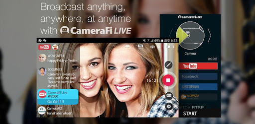 CameraFi Live - YouTube, Facebook, Twitch and Game apk