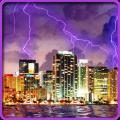 Lightning, Thunderstorm HD LWP Icon