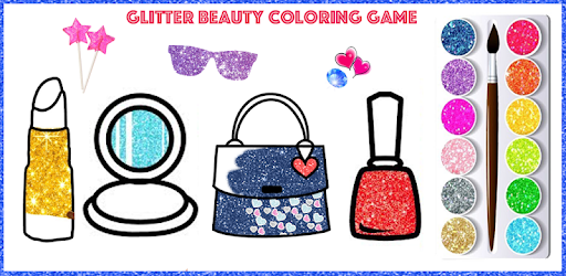 Glitter Beauty Accessories Coloring and drawing apk