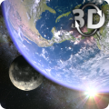 Earth & Moon in HD Gyro 3D Parallax Live Wallpaper Icon
