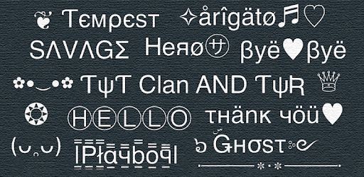 Cool text, symbols, letters, emojis, nicknames apk
