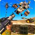 Fighter Helicopter Gunship Battle Air Attack Icon