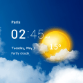 Transparent clock & weather forecast Icon