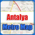 Antalya Turkey Metro Map Offline Icon