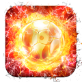 Flame Gold Football Live Wallpaper Icon