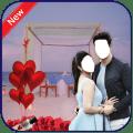 Romance couple photo suit Icon