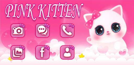 Cute Pink Kitty Theme apk