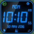 Night Digital Clock with Alarm Icon