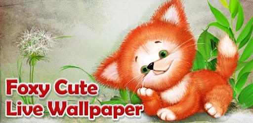 Foxy Cute Live Wallpaper apk
