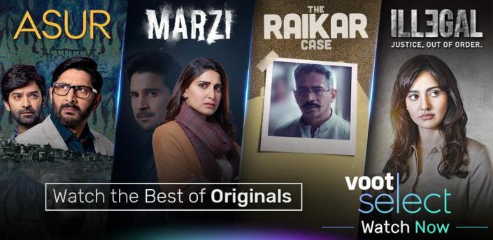 Voot Select Originals, Bigg Boss, MTV, Colors TV apk