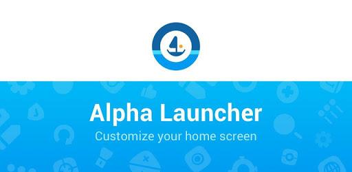 Alpha Launcher - Customize your home screen apk
