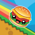 Jumping Burger Icon