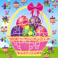 Easter Bunny Egg Jigsaw Puzzle Family Game Icon