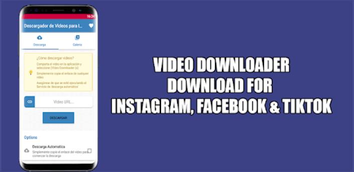 Video Downloader for Instagram and Facebook apk