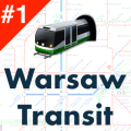 Warsaw Transit - Offline ZTM departures and maps Icon