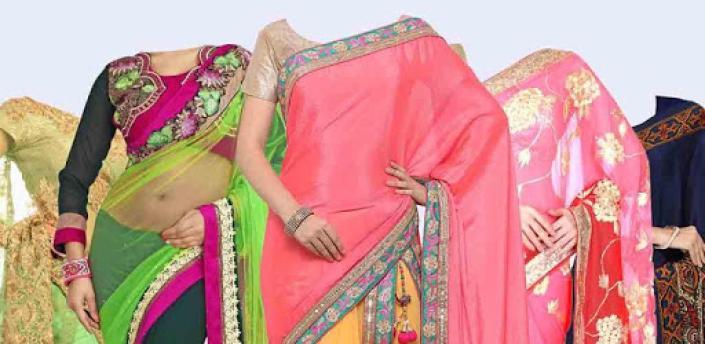 Women Transparent Saree Photo Suit apk