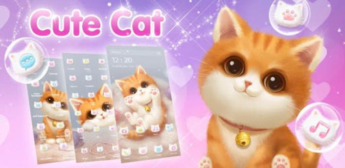 3D Cute Cat Theme 😺 apk